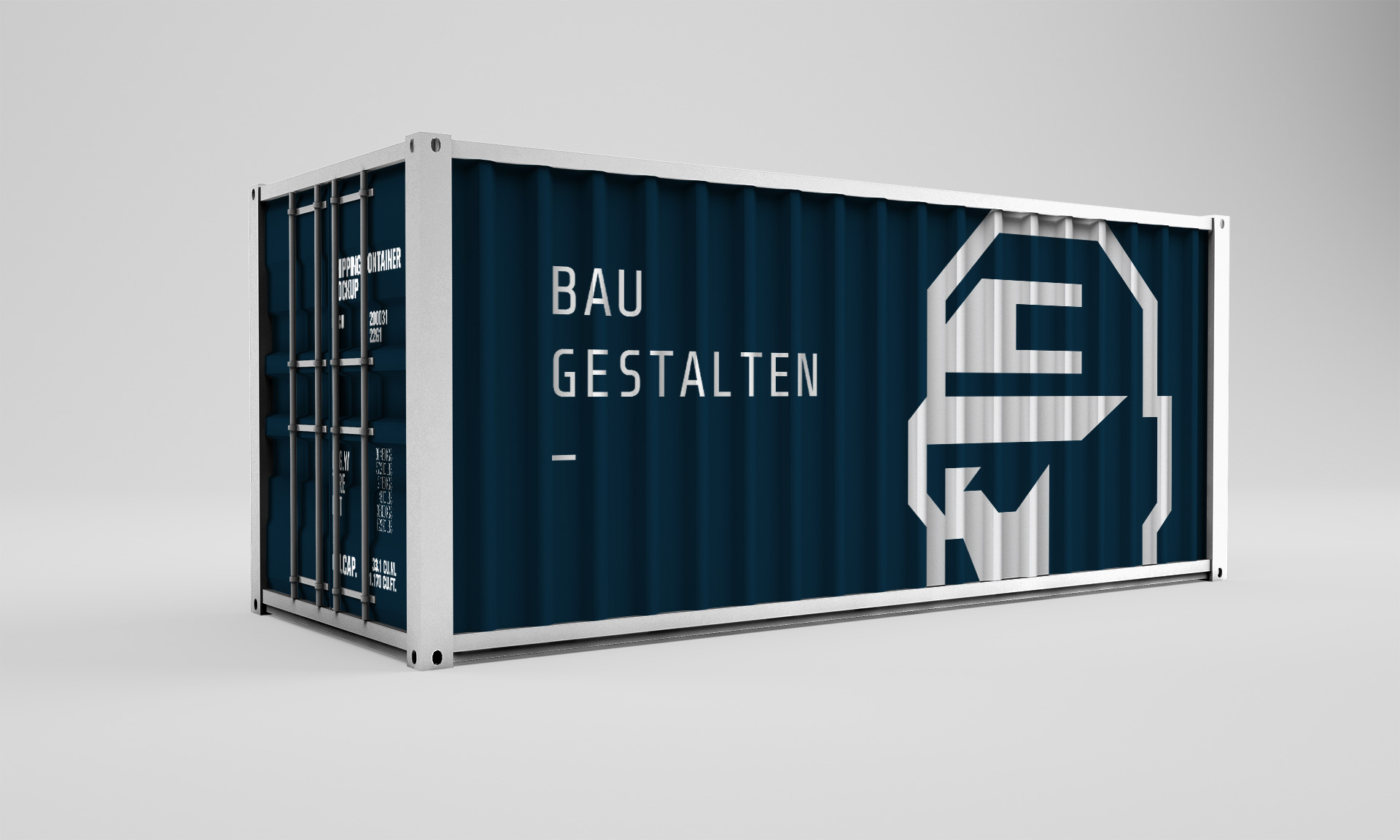 Bauservice Container mit Branding